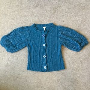 Sweaters - Flounce cardigan sweater. Size small.